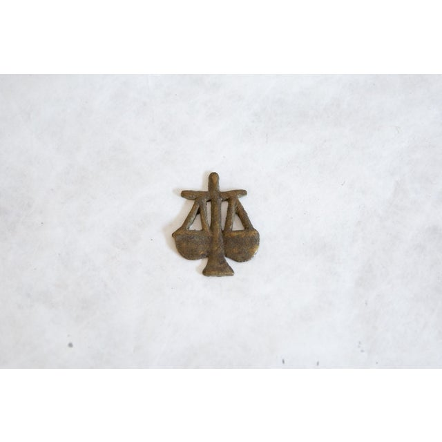 Old New House Vintage African Bronze Decorative Scales of Justice For Sale - Image 4 of 5