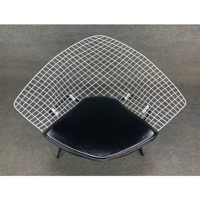 """Here is a beautiful vintage large """"Diamond"""" chairs by famed designer Harry Bertoia manufactured in the USA by Knoll in the..."""