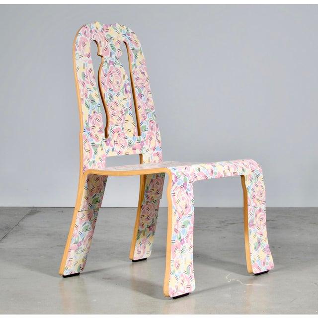 Robert Venturi & Denise Scott Brown Queen Anne chair for Knoll International. Circa 1984. Molded, laminated plywood....