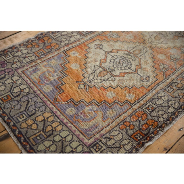 """Old New House Vintage Distressed Oushak Rug Runner - 3'3"""" X 10'2"""" For Sale - Image 4 of 13"""