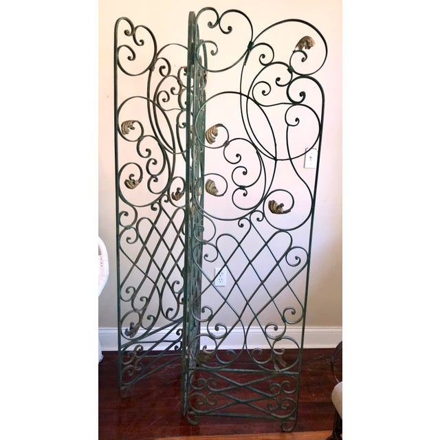 Antique Green Wrought Iron Folding Divider For Sale - Image 12 of 12