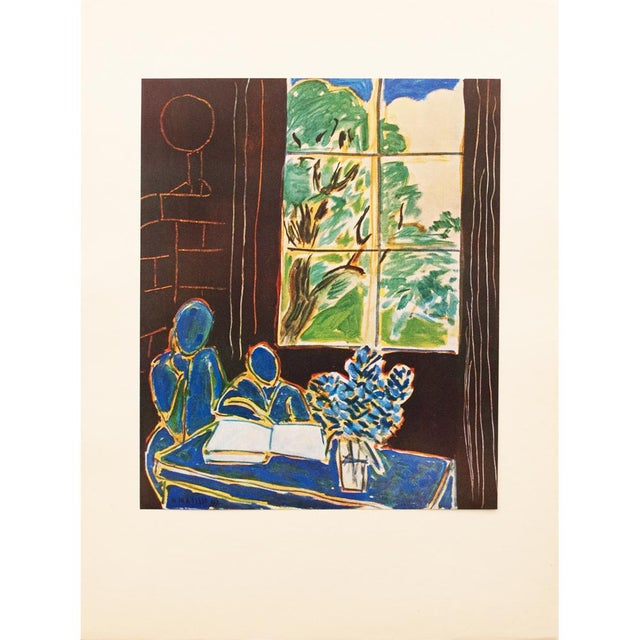 Blue 1947 Henri Matisse, Original Period Interieur Lithograph For Sale - Image 8 of 8