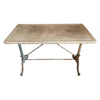 19th Century French Wrought Iron Garden Table For Sale