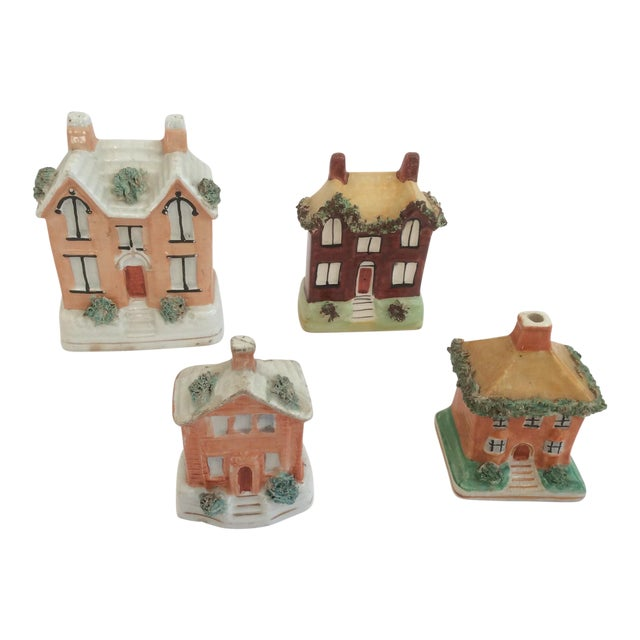 Staffordshire House Banks - Set of 4 For Sale