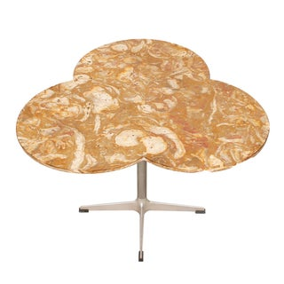 Trefoil-Shaped Marble Top Occasional / Dining Table For Sale