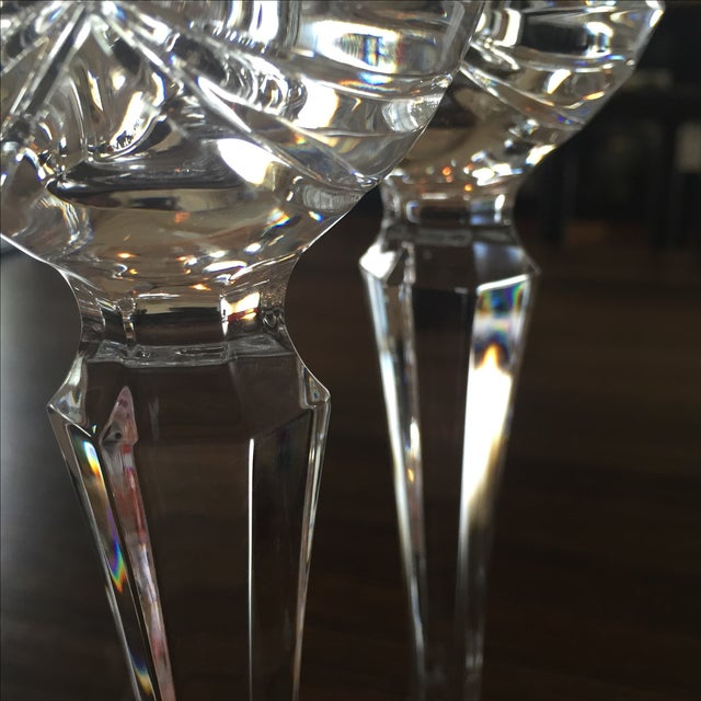Traditional Waterford Crystal Candlesticks - Pair For Sale - Image 3 of 6