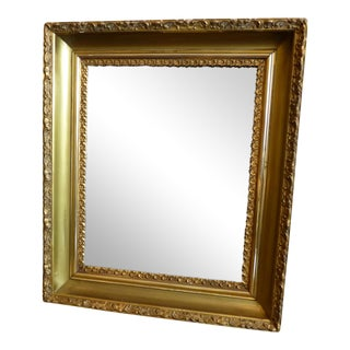 Vintage Gilded Wood & Plaster Wall Mirror For Sale