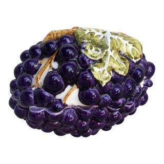Vintage Mid-Century Mancioli Mancer Grapes Bowl Candy Dish For Sale