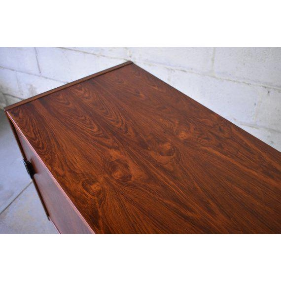 Beech Mid Century Modern Rosewood Credenza by Nils Jonsson for Troeds For Sale - Image 7 of 10
