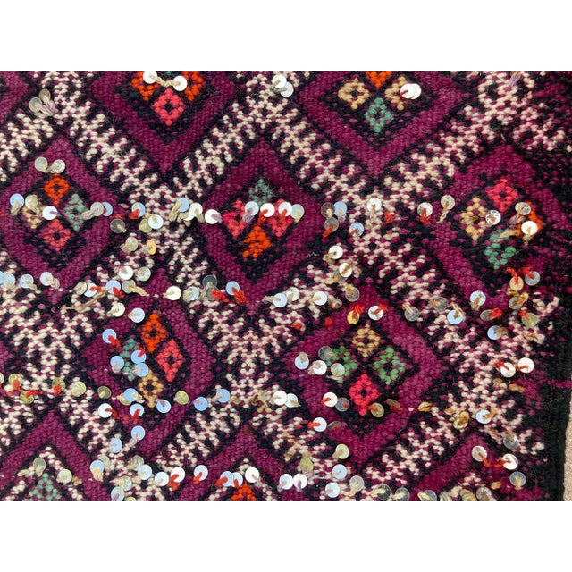Violet 1950s Moroccan African Zemmour Ethnic Textile Rug For Sale - Image 8 of 13