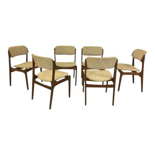 Set of Danish Modern Teak Dining Chairs by Erik Buch For Sale