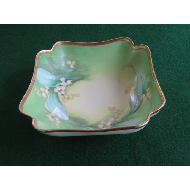 Antique Hand-Painted Signed Porcelain Bowl by Limoges For Sale - Image 13 of 13