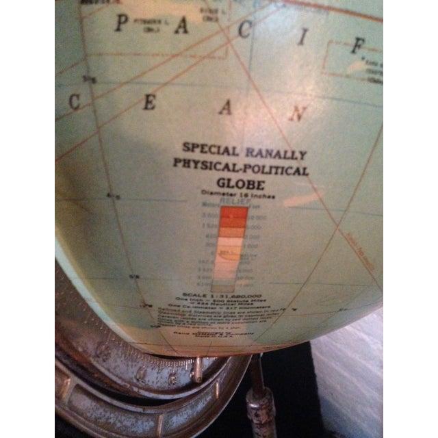 Vintage Globe on Pedestal For Sale - Image 4 of 6
