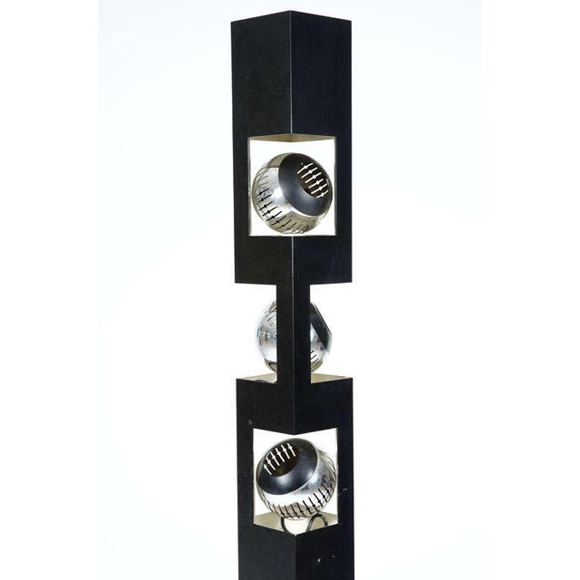 Contemporary Angelo Lelii Triple Header Column Torchiere Floor Lamp For Sale - Image 3 of 7