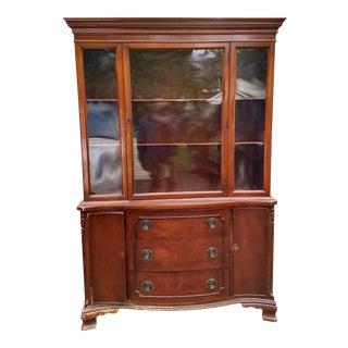 Morganton Furniture Wood Display Cabinet