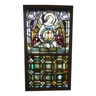 Antique Stainglass Window. For Sale