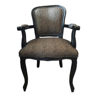 Black & Gold French Provincial Chair