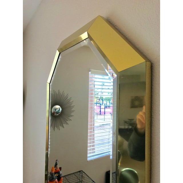 Springer Style Brass Beveled Glass Mirror - Image 5 of 9