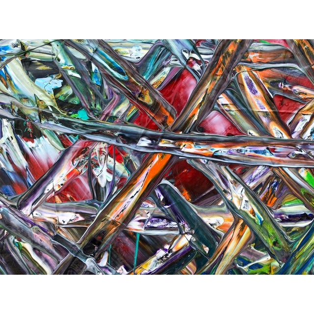 """Canvas Acrylic Painting by Artist Troy Smith - 79"""" X 79"""" - Contemporary Art - Abstraction For Sale - Image 7 of 13"""