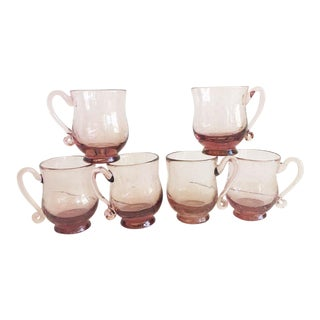 Purple French Tea Cups - Set of 6