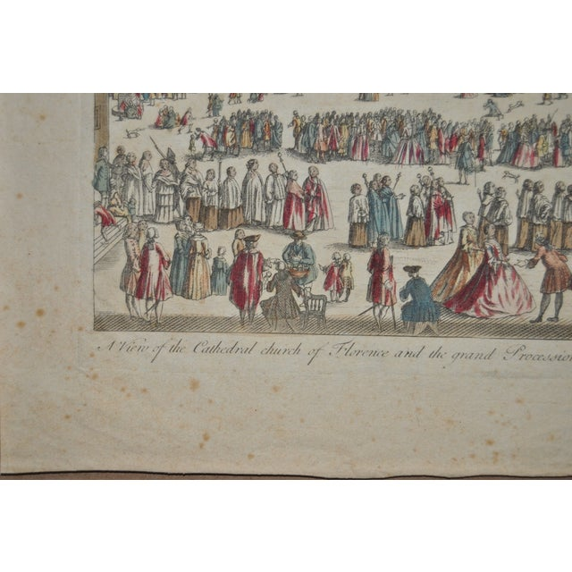 Antique Hand Colored Engraving of Florence, Italy - Image 5 of 8