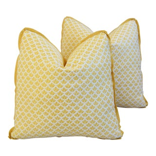 Designer Italian Mariano Fortuny Feather/Down Pillows - Pair