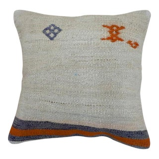 Vintage Abstract Kilim Pillow For Sale