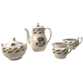 1950s Vintage Eric Ravilious Garden Series Coffee Service for Wedgwood - 4 Pieces For Sale