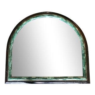 Green Malachite & Black, Marble Mirror For Sale