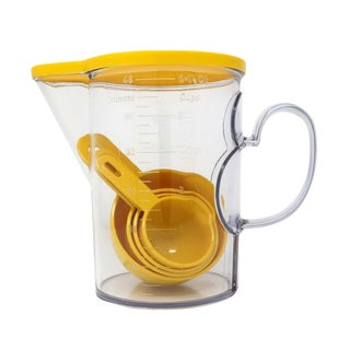 Yellow Dansk Measuring Pitcher and Measuring Cups For Sale