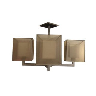 Fine Art Lamps Quadralli Series Rectangular Shade 4-Light Pendant For Sale