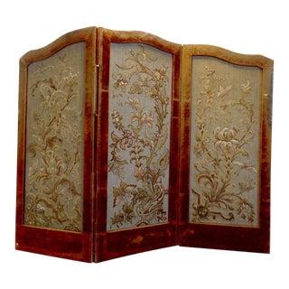 19th Century English Folding Screen