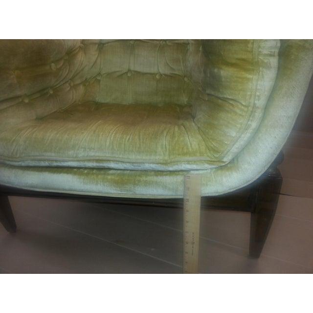Gio Ponti Original Tufted & Tucked Gold Velvet Tripod Club Chair - Image 7 of 11