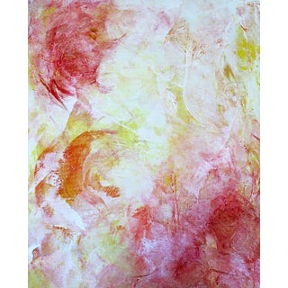 Colorful Bright Abstract Blooms Original Art Painting For Sale
