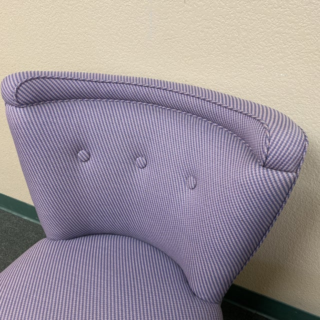 Mid 20th Century Custom Slipper Chairs- a Pair For Sale - Image 9 of 13
