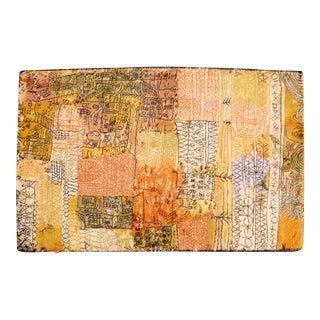 Contemporary Modern Rectangular Wool Paul Klee Ege Scandinavian Area Rug For Sale