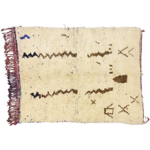Vintage Berber Moroccan Azilal Rug - 03'07 X 04'09 For Sale - Image 9 of 10