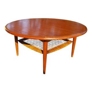 1960s Mid Century Modern Johannes Andersen. Teak Coffee Table For Sale