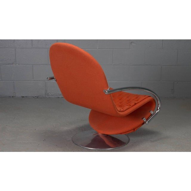 1970s 1-2-3 Series Easy Chair Armchairs by Verner Panton for Fritz Hansen- A Pair For Sale - Image 5 of 11