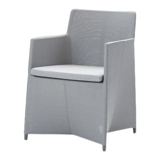 Cane-Line Diamond Chair, Light Gray For Sale