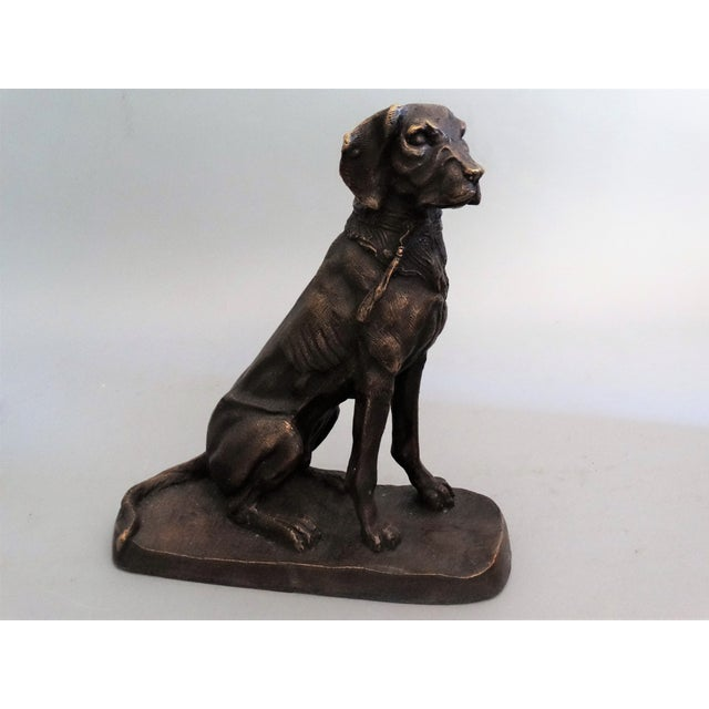 Contemporary Early French Bronze Sporting Dog For Sale - Image 3 of 8