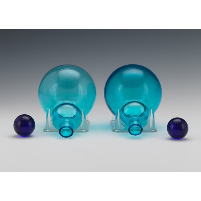 Mid 20th Century Vintage Mid Century Salviati, Murano, Italian Art Glass Decanters- A Pair For Sale - Image 5 of 8