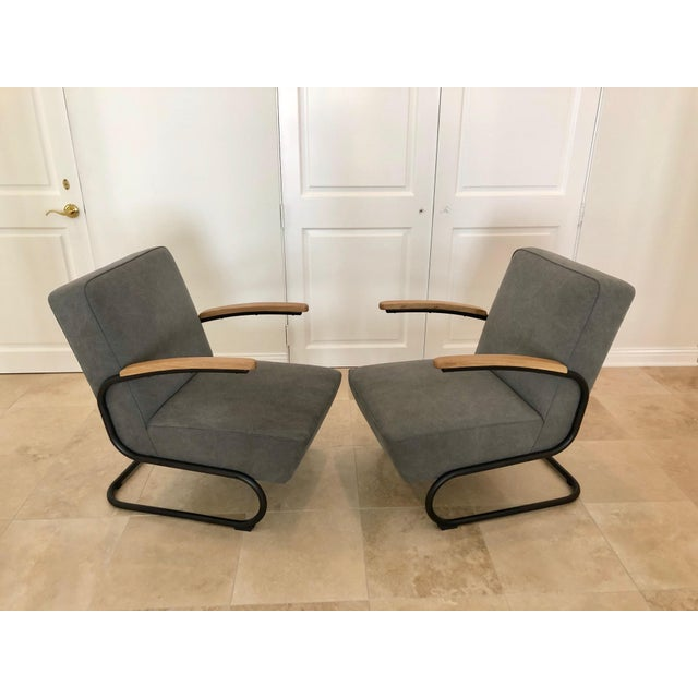 Cast Iron Mid Century Modern Kem Weber Style Springer Accent Chairs- A Pair For Sale - Image 7 of 7