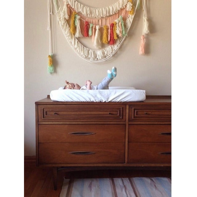 Mid-Century Modern Mid-Century Modern Broyhill Sculptra Dresser With Mirror For Sale - Image 3 of 4