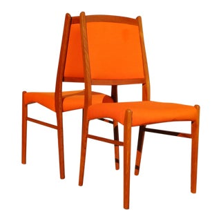 1960s Danish Solid Teak Chairs - a Pair For Sale