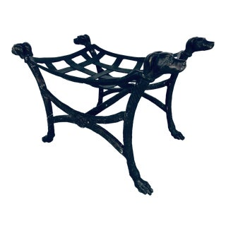 Maison Jansen Sculpted Bronze Bench For Sale