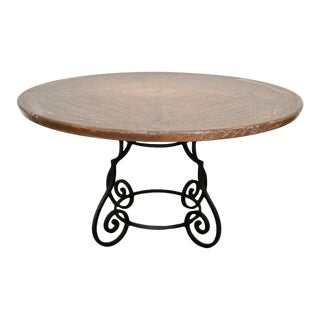 Iron & Oak Ceruse Dining Table