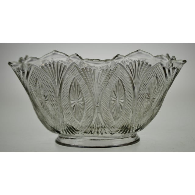 Transparent Victorian Style Pressed Glass Gas Light Shade For Sale - Image 8 of 13