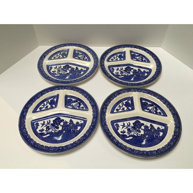 Vintage Blue Willow Romarco Plates - Set of 4 For Sale - Image 4 of 8