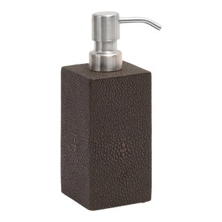 Shagreen Chocolate Soap Dispenser Faux Skin For Sale